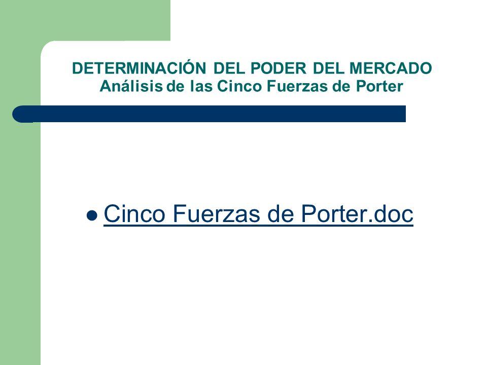 Cinco Fuerzas de Porter.doc