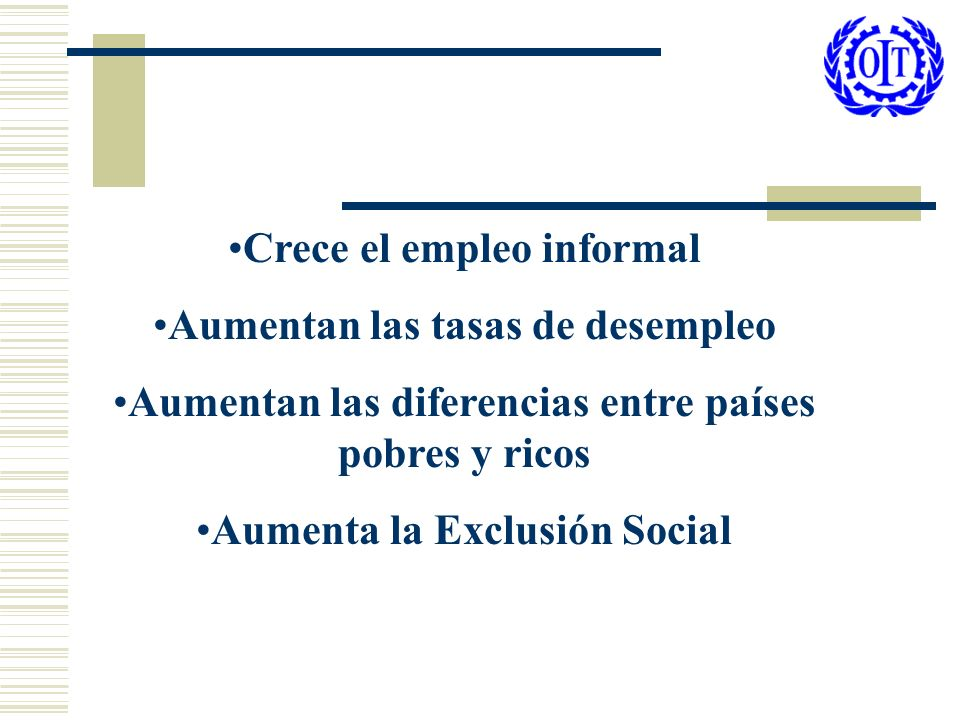 Crece el empleo informal Aumentan las tasas de desempleo