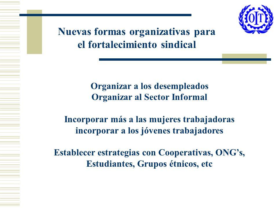 Nuevas formas organizativas para el fortalecimiento sindical
