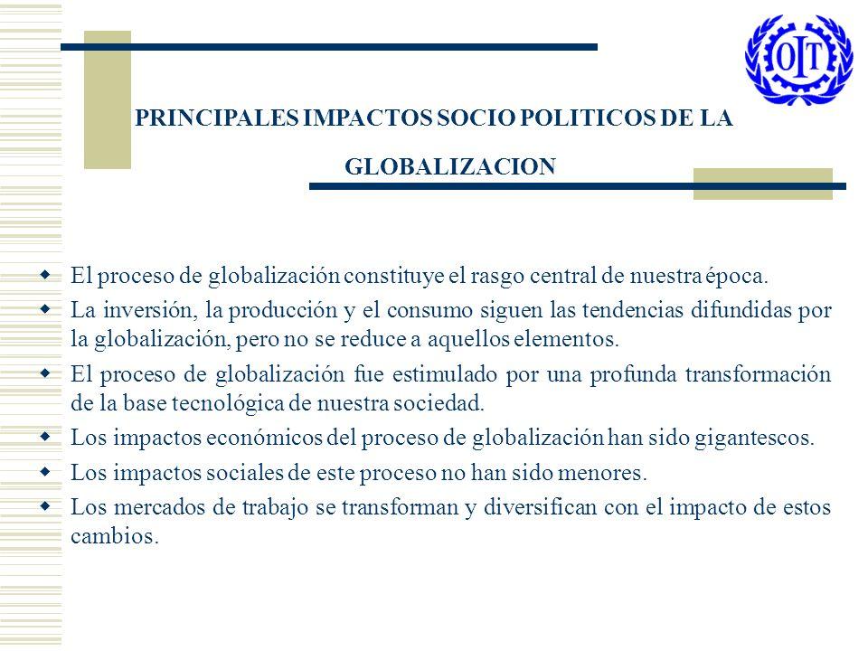 PRINCIPALES IMPACTOS SOCIO POLITICOS DE LA GLOBALIZACION
