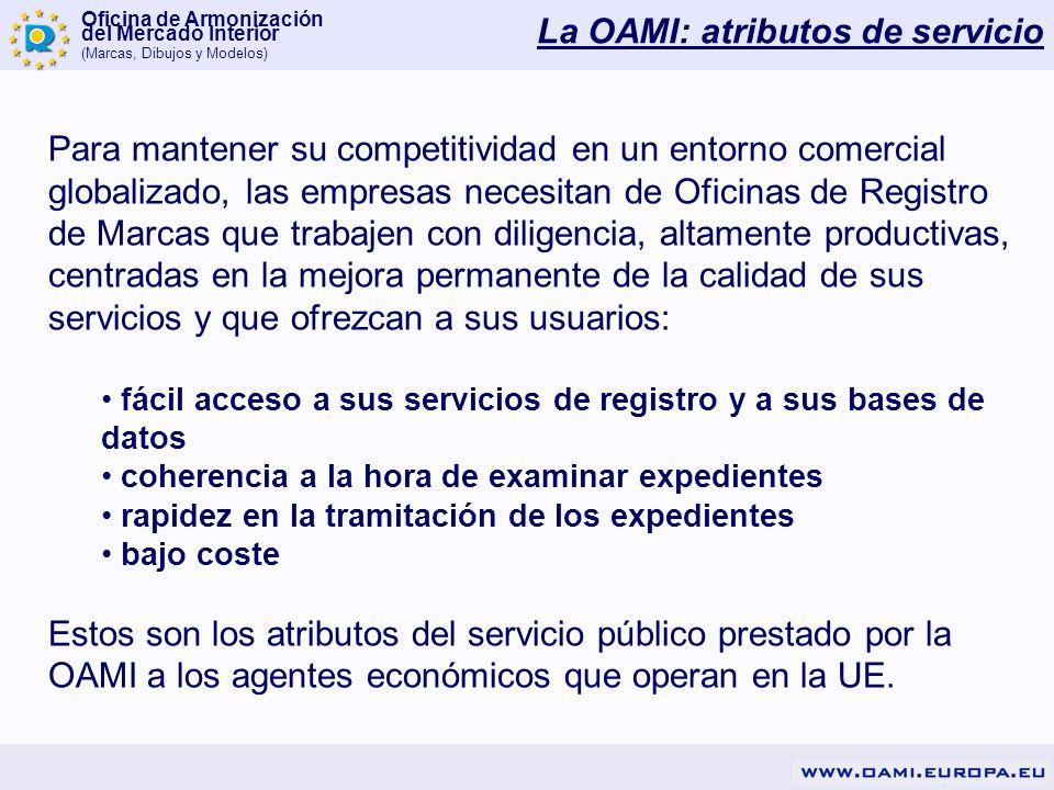 La OAMI: atributos de servicio