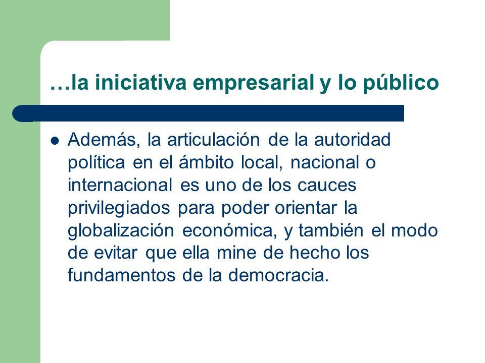 …la iniciativa empresarial y lo público