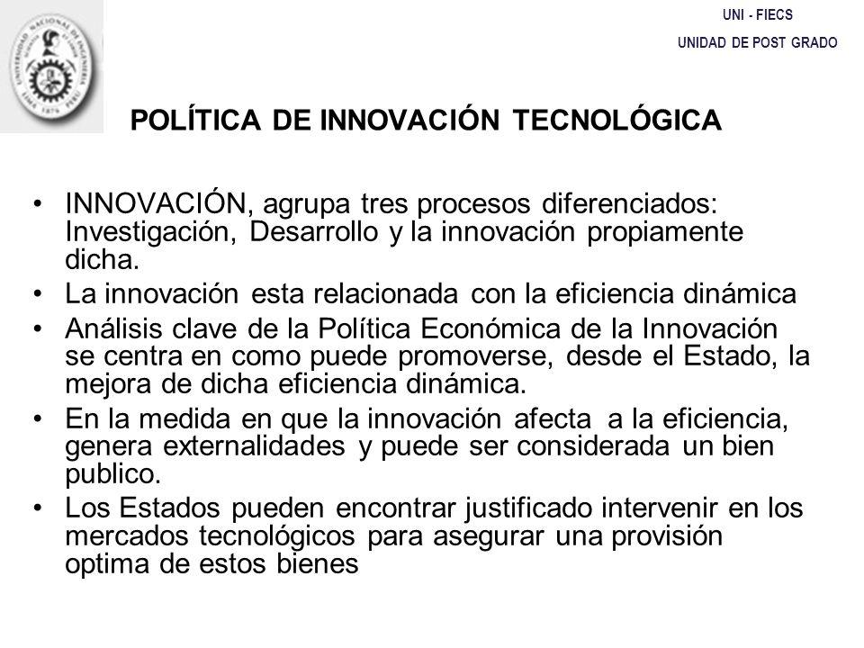POLÍTICA DE INNOVACIÓN TECNOLÓGICA