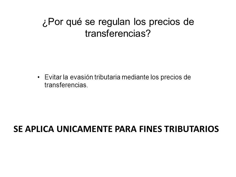 ¿Por qué se regulan los precios de transferencias