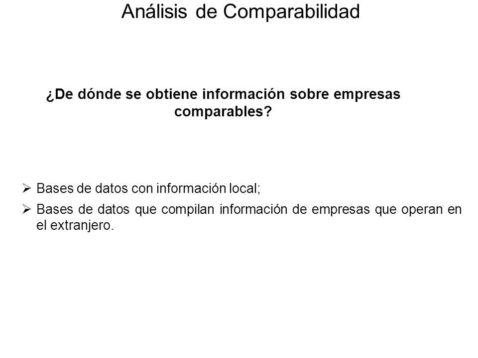 ¿De dónde se obtiene información sobre empresas comparables