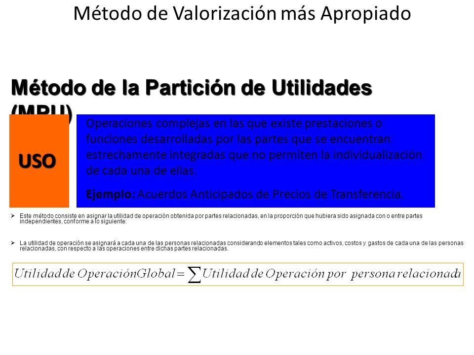 Método de la Partición de Utilidades (MPU)