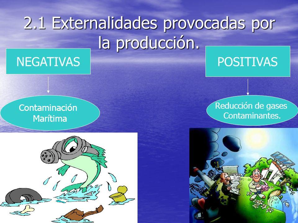 2.1 Externalidades provocadas por la producción.