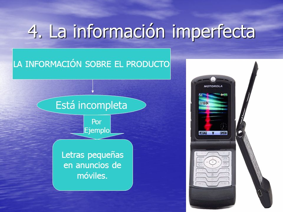 4. La información imperfecta
