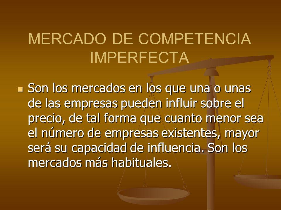MERCADO DE COMPETENCIA IMPERFECTA