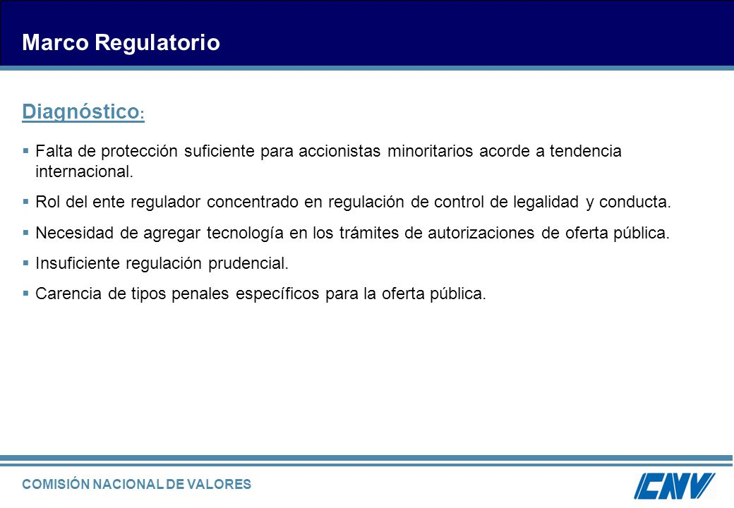 Marco Regulatorio Diagnóstico: