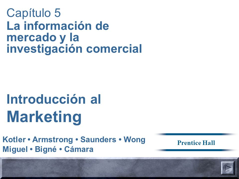 Marketing Introducción al Capítulo 5