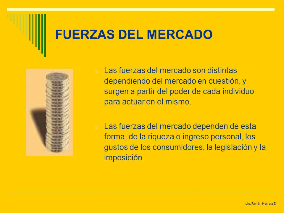 FUERZAS DEL MERCADO