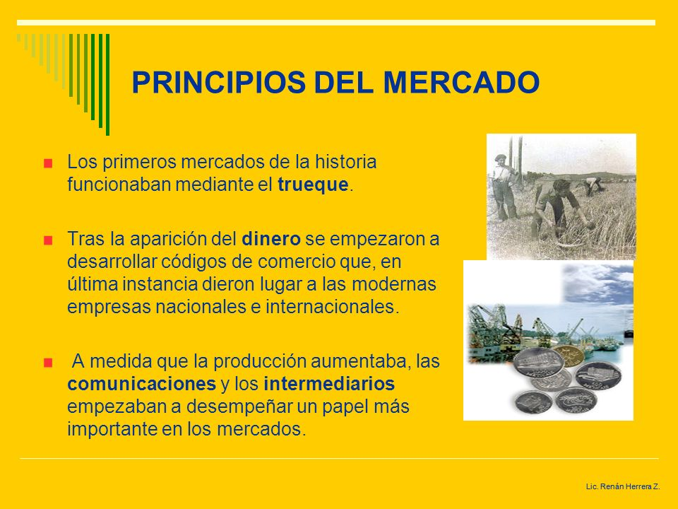 PRINCIPIOS DEL MERCADO