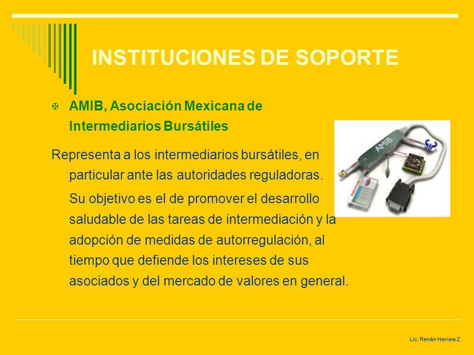 INSTITUCIONES DE SOPORTE