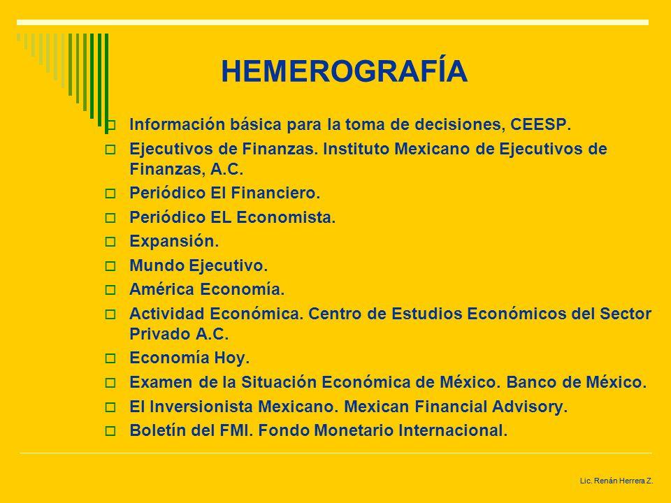 HEMEROGRAFÍA Información básica para la toma de decisiones, CEESP.