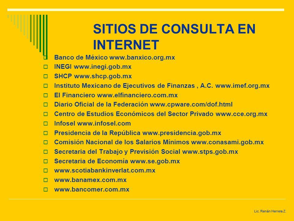 SITIOS DE CONSULTA EN INTERNET