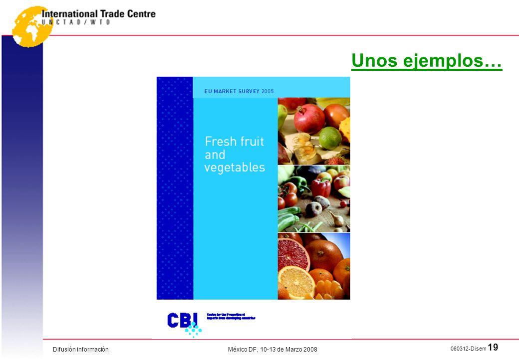 Unos ejemplos… México DF, 10-13 de Marzo 2008