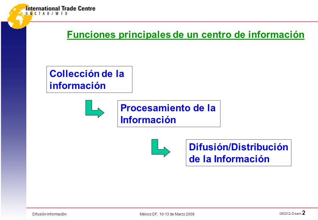 Funciones principales de un centro de información