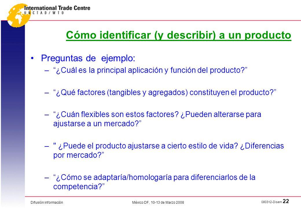 Cómo identificar (y describir) a un producto