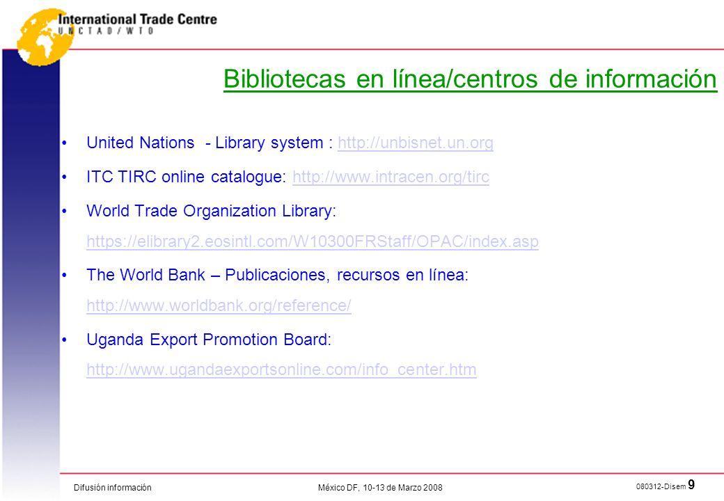 Bibliotecas en línea/centros de información