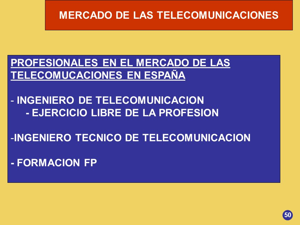 PROFESIONALES EN EL MERCADO DE LAS TELECOMUCACIONES EN ESPAÑA