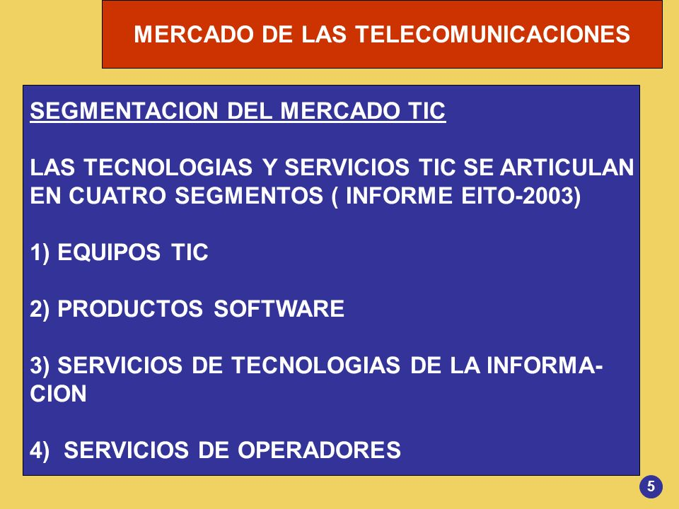 SEGMENTACION DEL MERCADO TIC