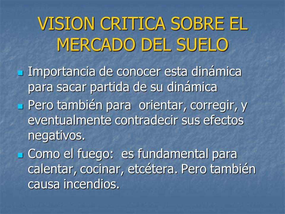 VISION CRITICA SOBRE EL MERCADO DEL SUELO
