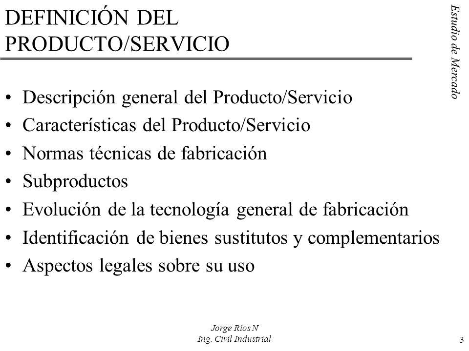 DEFINICIÓN DEL PRODUCTO/SERVICIO