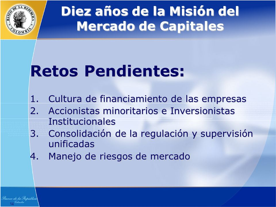 Diez años de la Misión del Mercado de Capitales