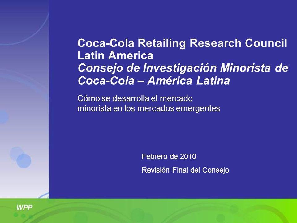 Coca-Cola Retailing Research Council Latin America Consejo de Investigación Minorista de Coca-Cola – América Latina