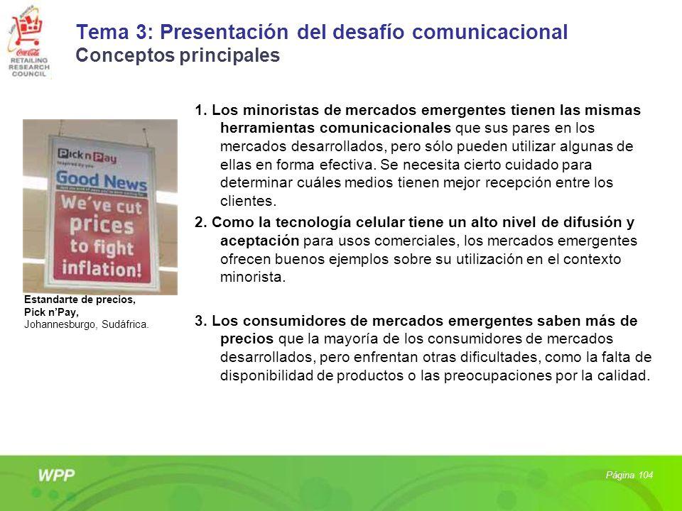 Tema 3: Presentación del desafío comunicacional Conceptos principales