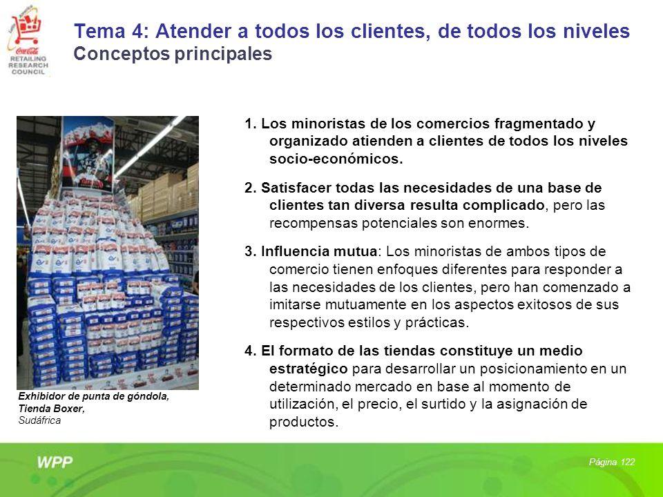 Tema 4: Atender a todos los clientes, de todos los niveles Conceptos principales