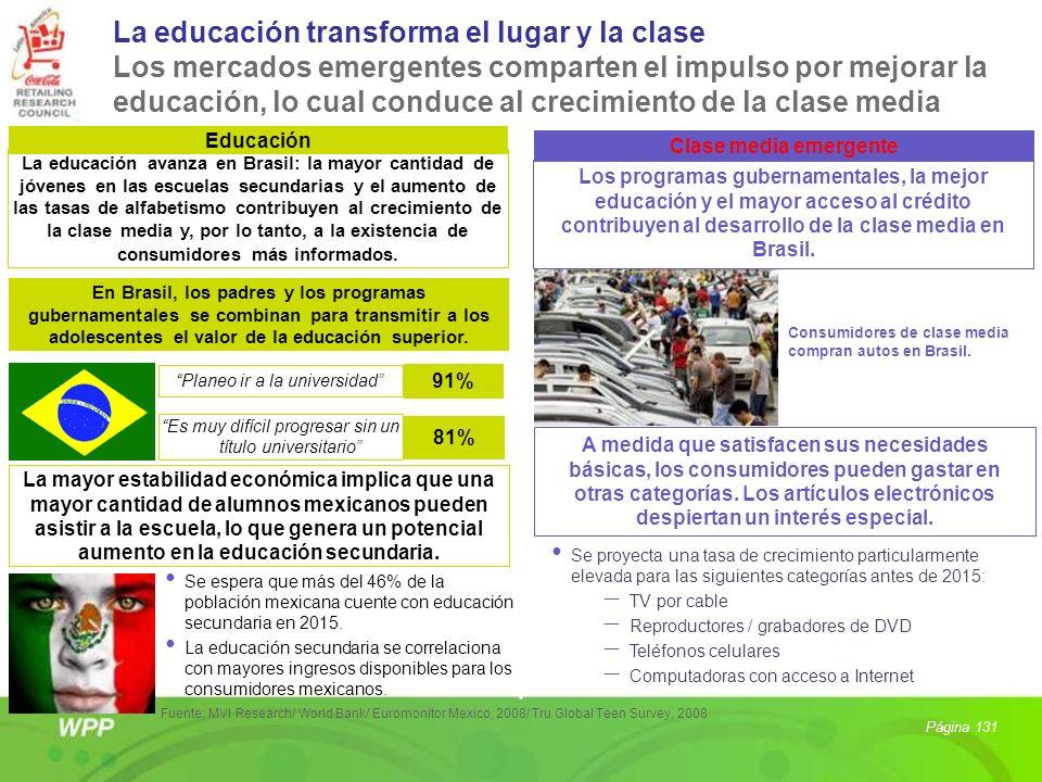La educación transforma el lugar y la clase