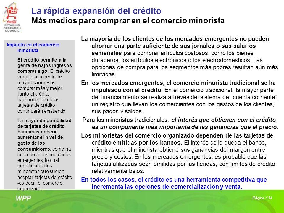 La rápida expansión del crédito Más medios para comprar en el comercio minorista