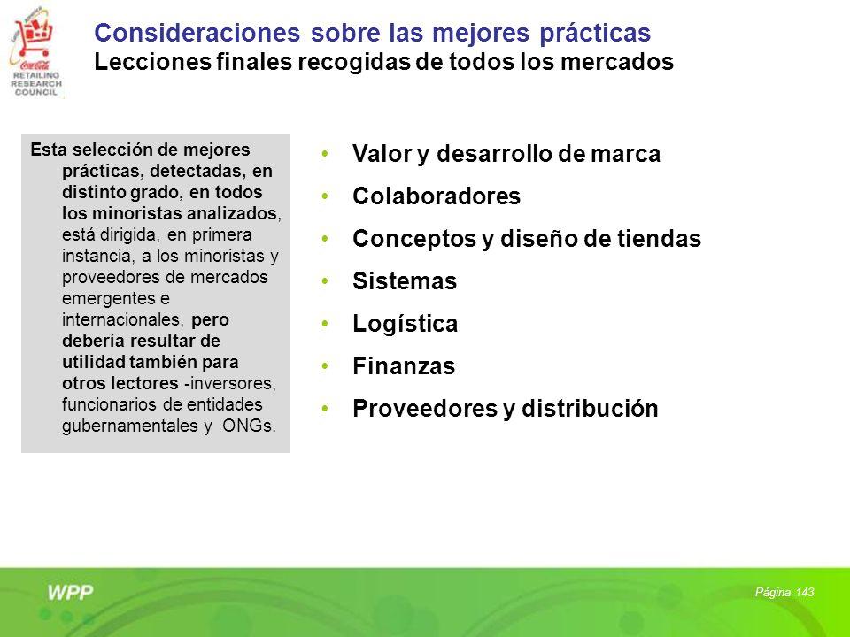Consideraciones sobre las mejores prácticas Lecciones finales recogidas de todos los mercados