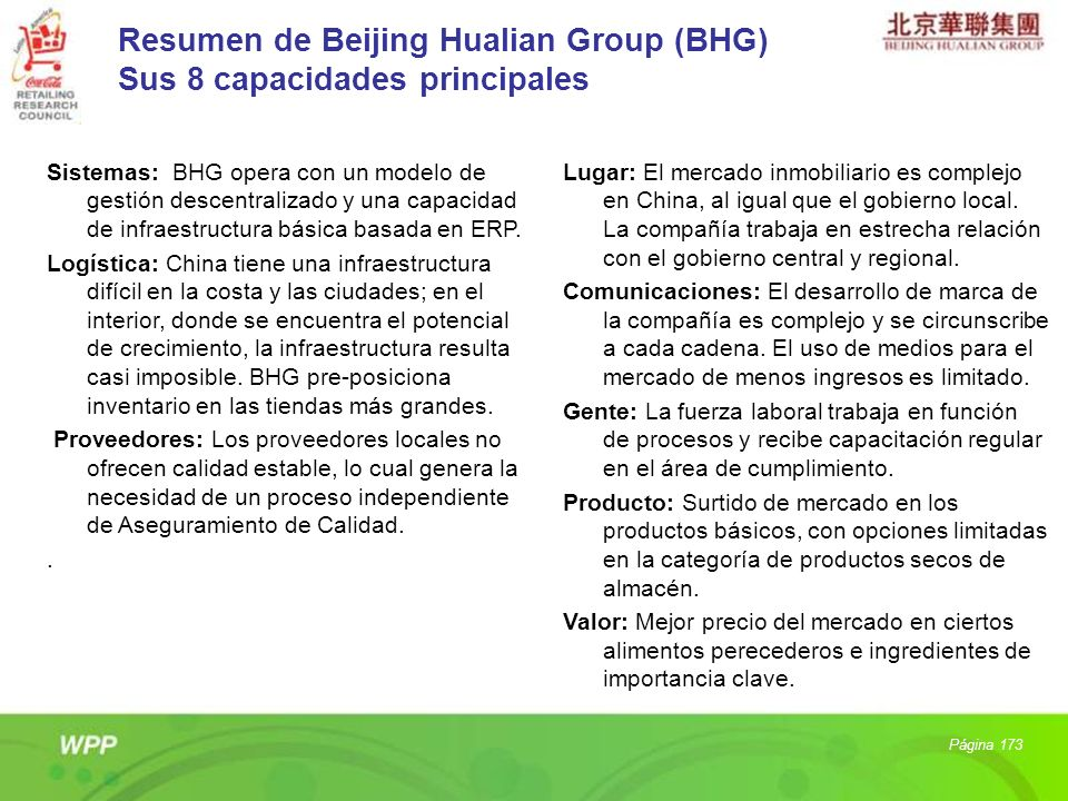 Resumen de Beijing Hualian Group (BHG) Sus 8 capacidades principales