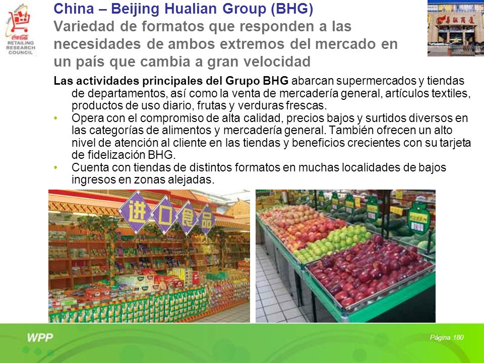 China – Beijing Hualian Group (BHG) Variedad de formatos que responden a las necesidades de ambos extremos del mercado en un país que cambia a gran velocidad