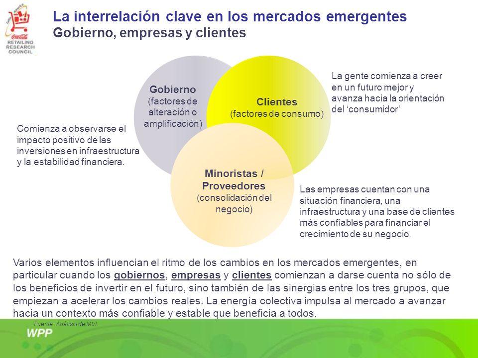 La interrelación clave en los mercados emergentes Gobierno, empresas y clientes