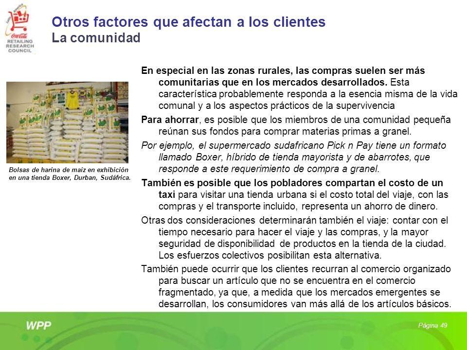 Otros factores que afectan a los clientes La comunidad