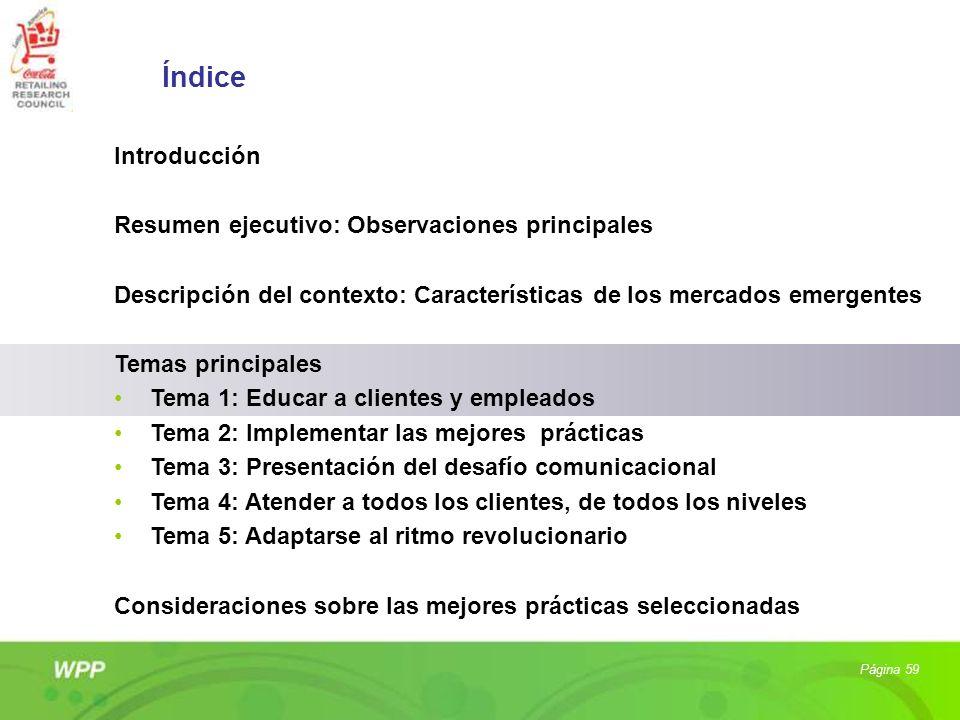 Índice Introducción Resumen ejecutivo: Observaciones principales