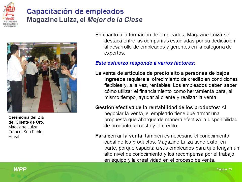 Capacitación de empleados Magazine Luiza, el Mejor de la Clase