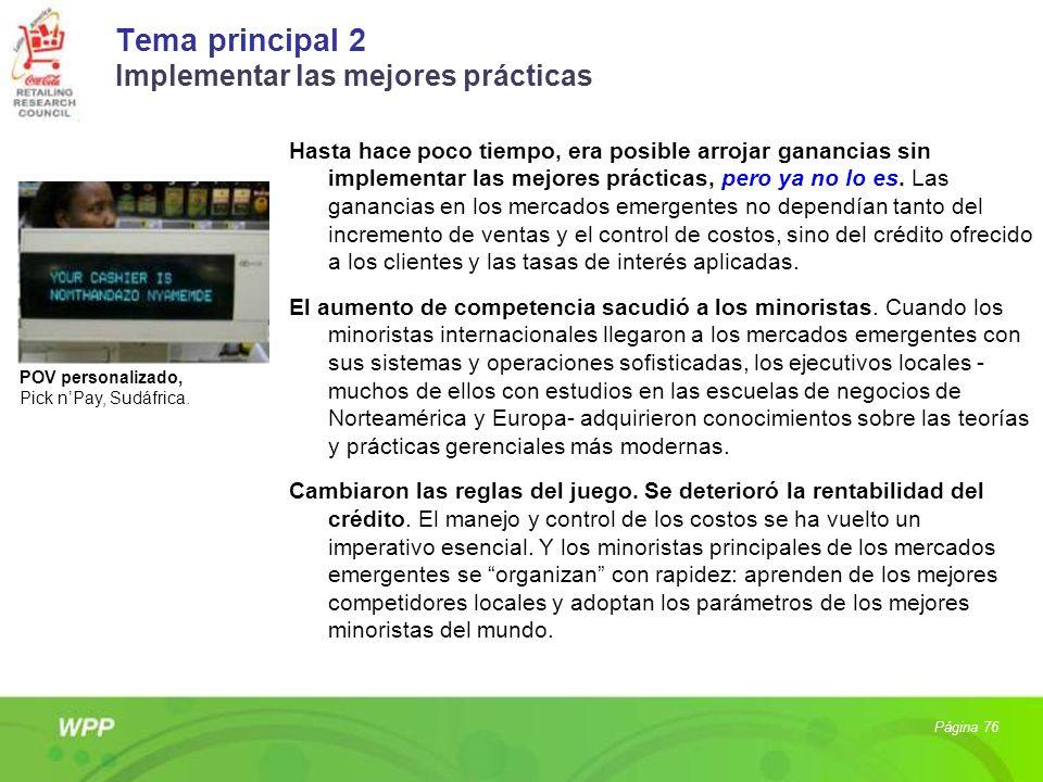 Tema principal 2 Implementar las mejores prácticas