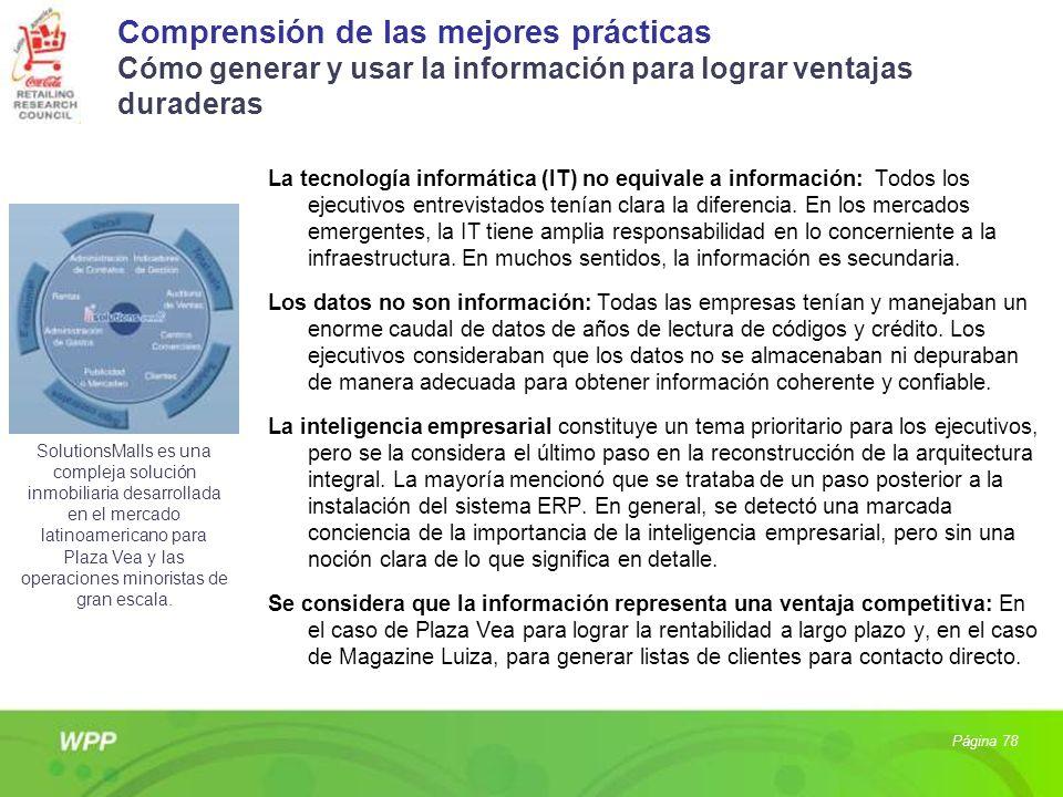 Comprensión de las mejores prácticas Cómo generar y usar la información para lograr ventajas duraderas