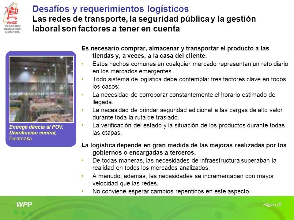 Desafíos y requerimientos logísticos Las redes de transporte, la seguridad pública y la gestión laboral son factores a tener en cuenta