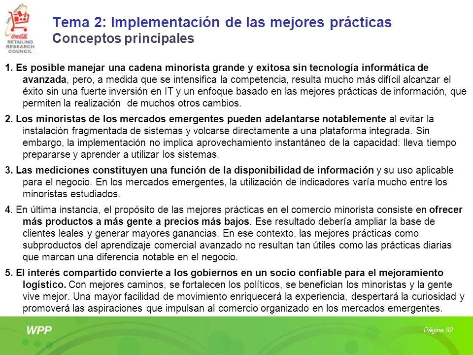 Tema 2: Implementación de las mejores prácticas Conceptos principales
