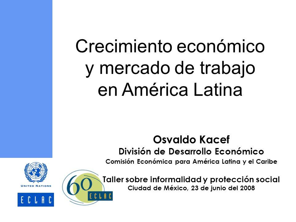 Crecimiento económico y mercado de trabajo en América Latina