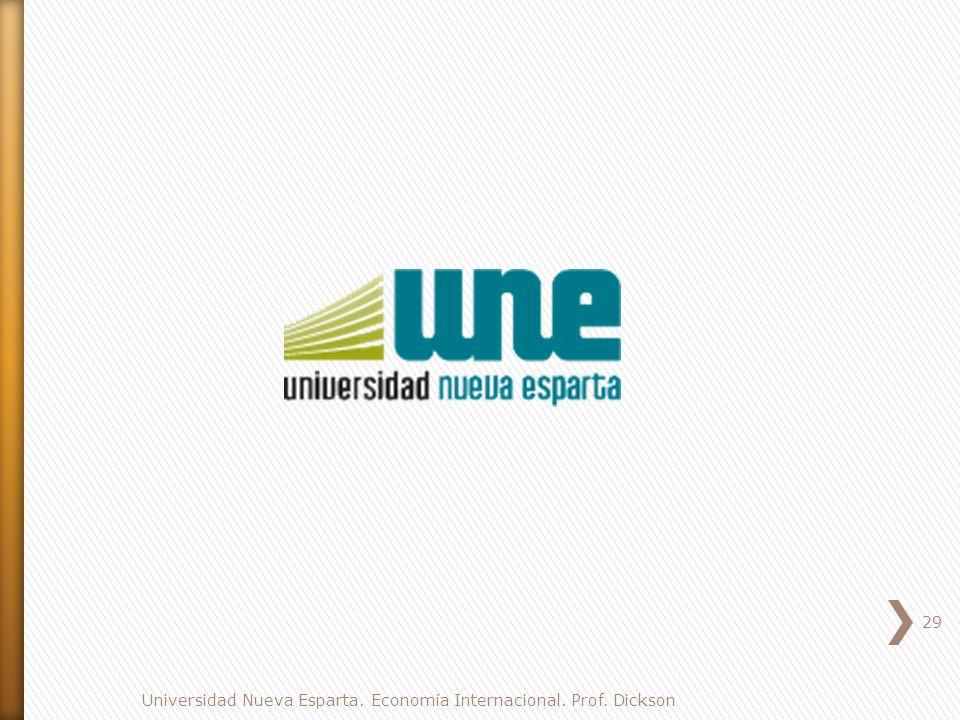 Universidad Nueva Esparta. Economía Internacional. Prof. Dickson