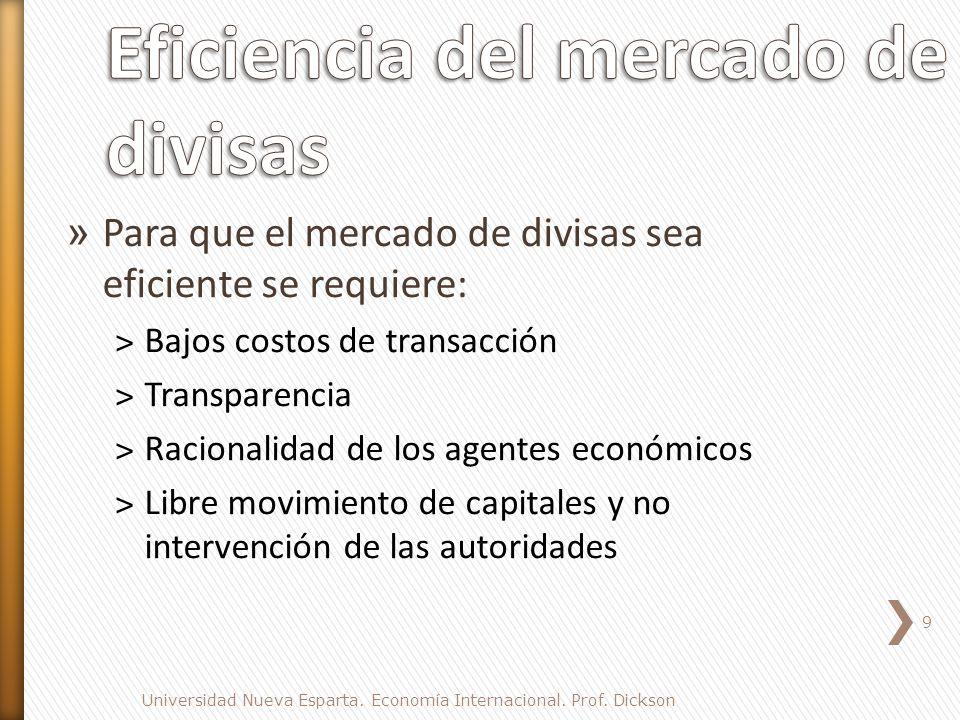 Eficiencia del mercado de divisas