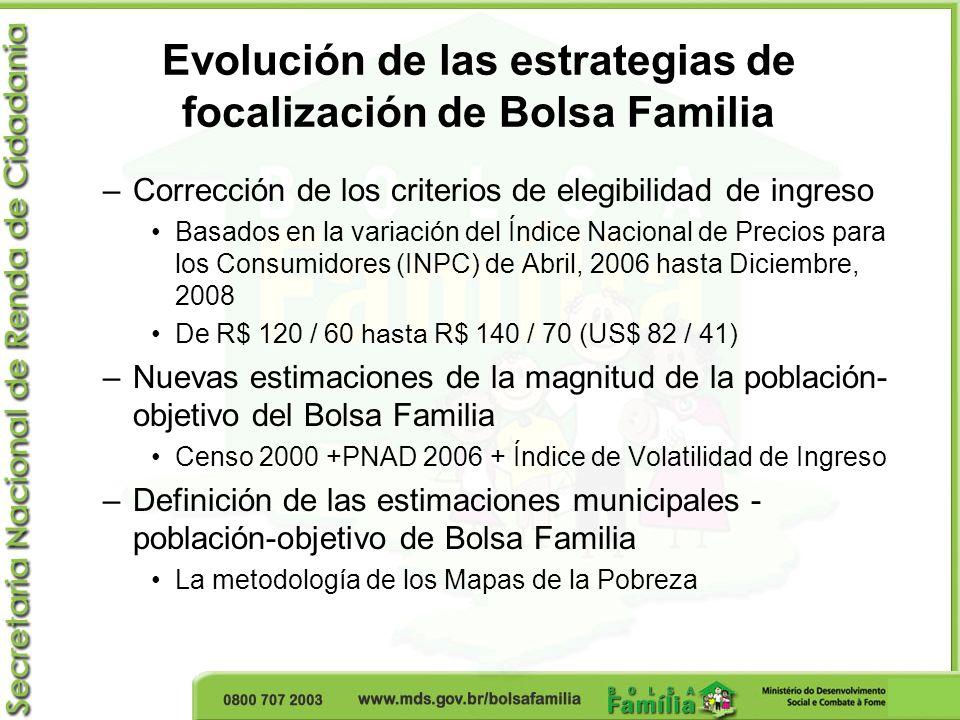 Evolución de las estrategias de focalización de Bolsa Familia