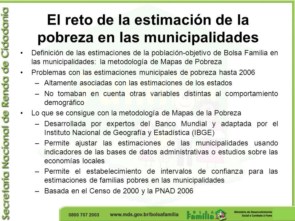 El reto de la estimación de la pobreza en las municipalidades